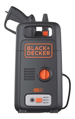 Hidrolavadora Black+Decker BW13 negra y naranja de 1300W con 1450psi de presión máxima 220V