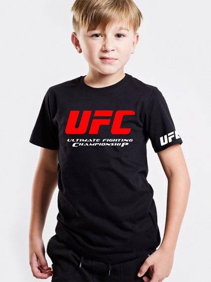 Playera Ufc Niño Peleas Artes Marciales Mixtas Box Karate Fu