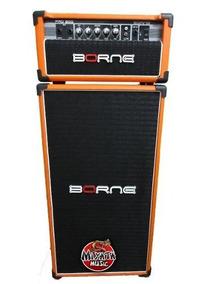 Cabeçote E Caixa Pro 200 P/ Baixo Borne Profissional Orange