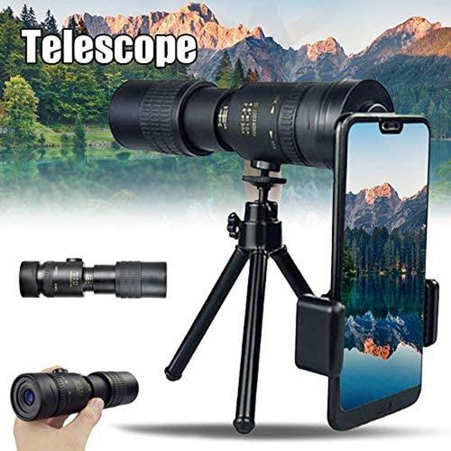 4k 10-300x40mm Super Teleobjetiva Zoom Monocular Telescópio