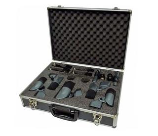 Carlsbro Dm7 Set De Siete Microfonos Para Bateria + Estuche