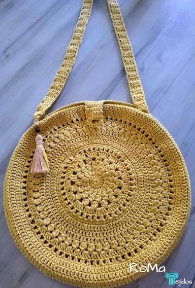 Bolso Tejido Crochet Playa Boho