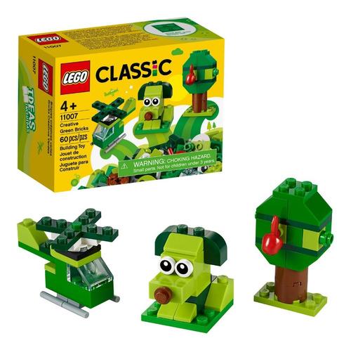 Lego Classic 11007 Perrito Verde 3 En 1 Figuras 60 Pzs