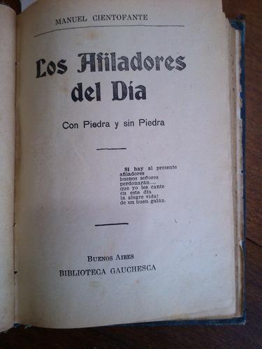 Imagen 1 de 10 de Cientofante Manco Otros Picaresca Gauchesca Y Española 1909