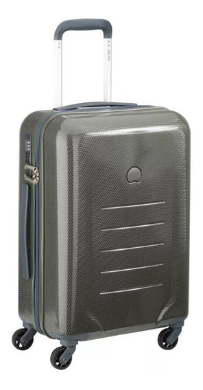 Valija Cabina Delsey Color Gris Con Fuelle Carry On Novedad