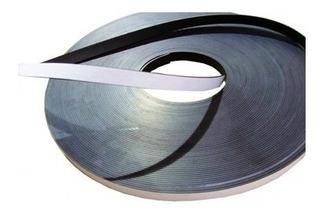 Imã Flexível Adesivado Perfil Magnético 14x2 - 5 Metros