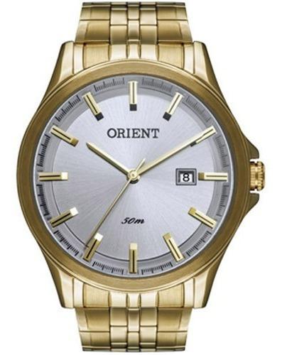 Relógio Masculino Orient Analógico Dourado Mgss1079 S1kx