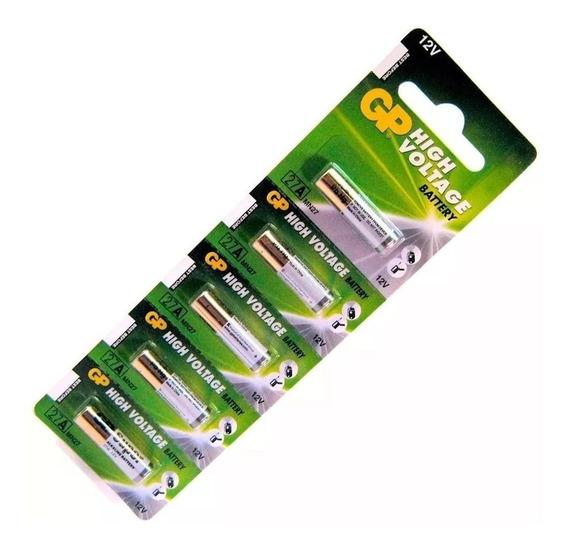 Pilha A27 Gp 12v Controle Portão Bateria Cartela C/ 5 Un