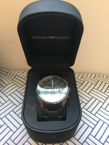 Relógio Emporio Armani Ar5889 Preto Na Caixa Manual Garantia