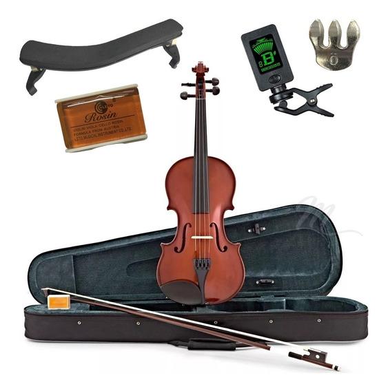 Violín 4/4 Yirelly + Estuche + Soporte +afinador +accesorios
