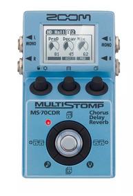 Pedal Guitarra Multi-efeitos Zoom Stompbox Ms-70cdr Chorus