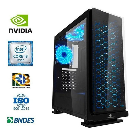Computador Compusonic Gamer I3 7350/ B250 8gb Ddr4 Ssd 240gb