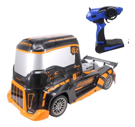 Caminhão Carrinho Carro Controle Remoto Formula Truck Laranj