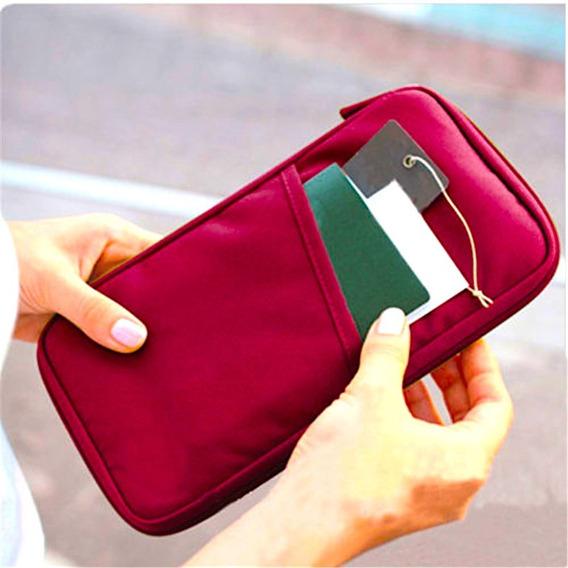 Bolso Multifuncional Pasaporte Documentos Billetera