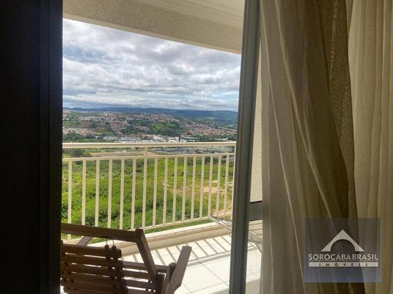 Apartamento Com 3 Dormitórios Para Alugar, 78 M² Por R$ 2.200/mês - Condomínio Vitrine Esplanada - Votorantim/sp, Ao Lado Do Shopping Iguatemi. - Ap0398