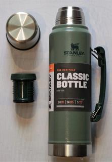 Termo Stanley Classic Verde De 1 Litro Con Tapon Cebador