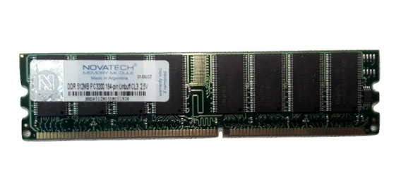 Memoria Ddr Novatech 512mb Pc-3200 400mhz 8 Chips 4