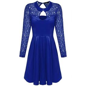 7feafc3b Vestido Negro Corte Chueco - Vestidos de Mujer Azul en Mercado Libre ...