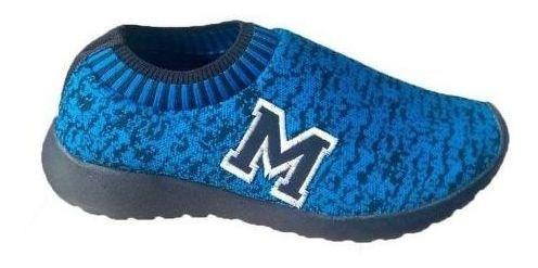 Tenis Marathon Anfibio Confort Corrida Caminhada Azul/pto