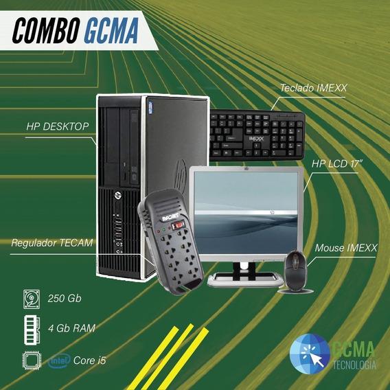 Computador Hp Desktop Core I5 Refurbish 4gb 250gb Monitor 17