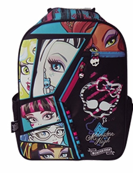 Mochila Espalda Monster High 16 Original Escolares Y Urbanas