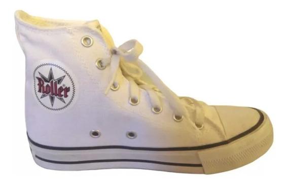 Zapatillas Roller Mujer T36 Botitas Blancas