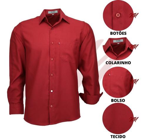 Imagem 1 de 3 de Camisa Masculina Não Amassa Possui Tamanhos Plus Size 832
