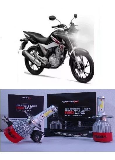 Lampada H4 Super Led Farol Moto Honda Cg Fan E Titan 160