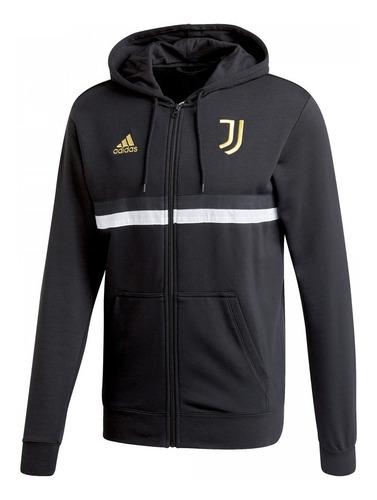 Campera Con Capucha adidas 3 Rayas De Juventus