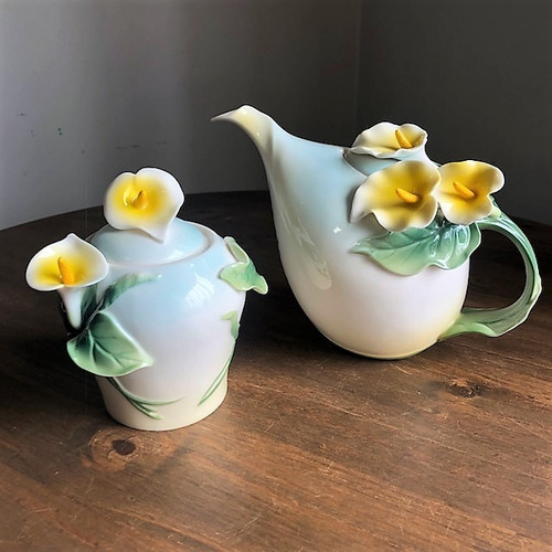 Kit Porcelana Copo De Leite Bodas D Ouro 50 Anos D Casamento