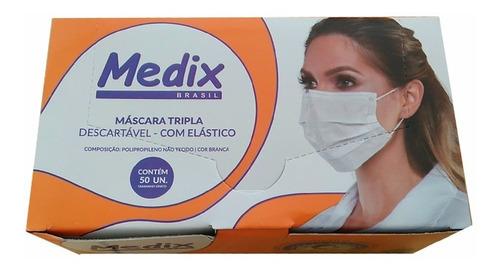 Imagem 1 de 1 de Medix Máscara Cirúrgica C/ Elástico C/50