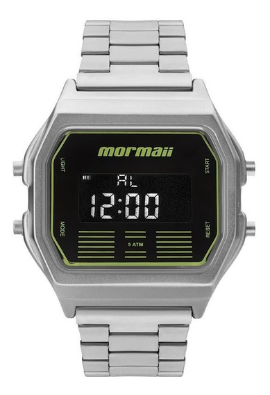 Relógio Mormaii Masculino Ref: Mobj3715b/3p Retrô Prateado