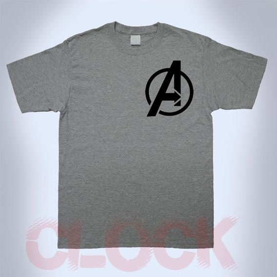 Playera Avengers Dama Y Caballero Superheroes Marvel