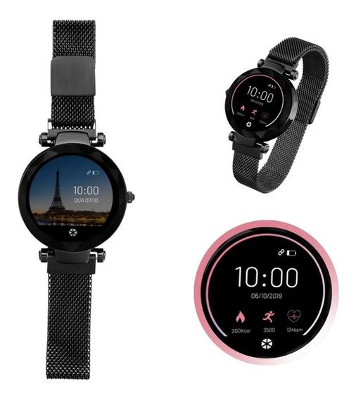 Relógio Smartwatch Paris Android/ Ios Preto - Es267 Atrio