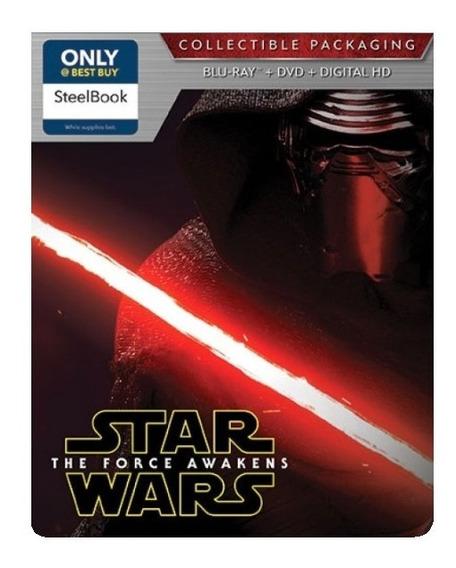 Star Wars Episodio 7 El Despertar Fuerza Steelbook Blu-ray