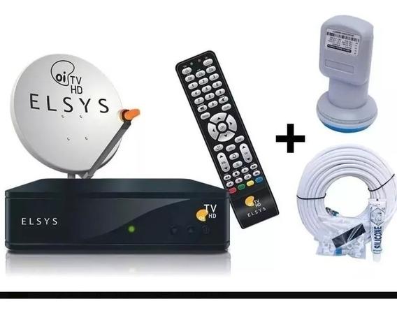 Kit Recpito + Antena + Cabos Oi Tv
