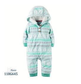Pijama Macacão Carters Menino Menina Zíper Pés Fechados