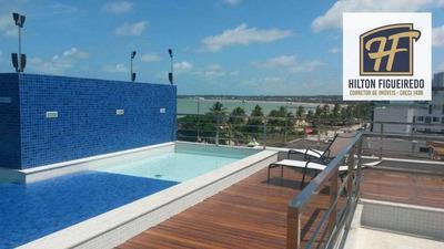 Flat Com 1 Dormitório Para Alugar, 50 M² Por R$ 2.100/mês Ou R$ 250,00/ Diaria- Tambaú - João Pessoa/pb - Fl0044