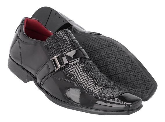 Sapato Social Masculino Em Verniz Ref:1056