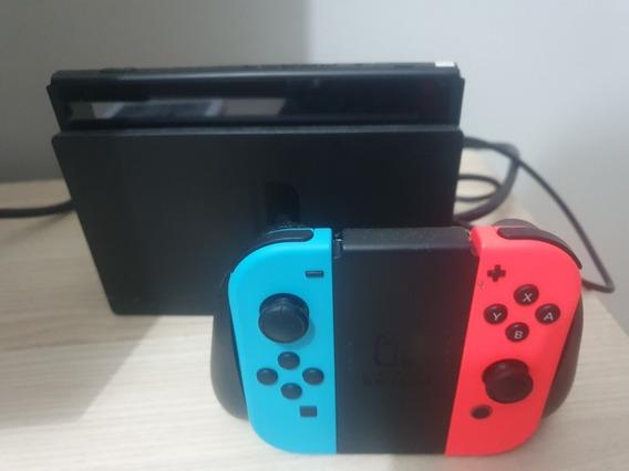 Nintendo Switch 32gb, Com Vários Jogos. Desbloqueavel