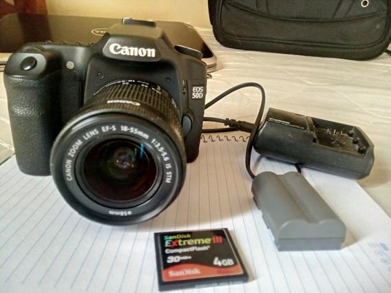 Canon 50d Com Lente 18 55 Mm Stm