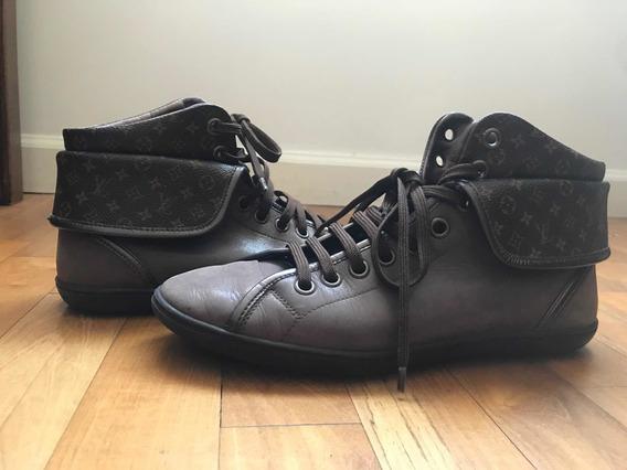 Zapatillas Louis Vuitton N39,5 Original De Gamuza Marrón