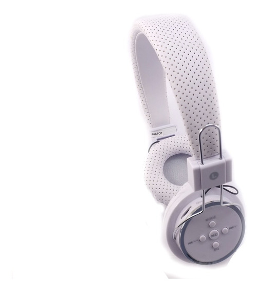Fone De Ouvido Sem Fio Bluetooth Acolchoado Headphone Micro Sd Branco Modelo B-05 Produto Sem Embalagem A11262
