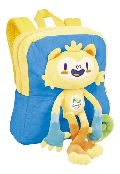 Mochila Infantil Mascote Vinicius Olimpiada Rio 2016 Sestini