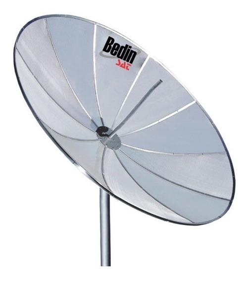 Antena Digital Parabólica Para Tv 1,50m 10 Telas Bedin Sat
