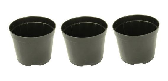 200 Mini Vasinhos Pote 7 Plástico Preto Muda 150ml Cactos