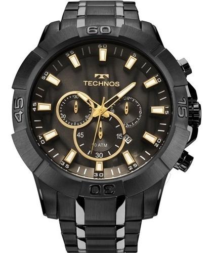 Relógio Technos Masculino Preto Legacy Cronógrafo Js26ag 4p
