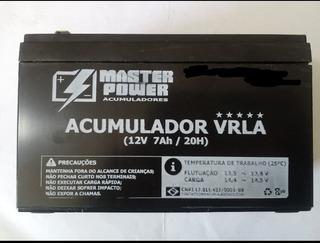 Bateria 12v 7a Selada Para Alarmes Cerca Elétrica Etc