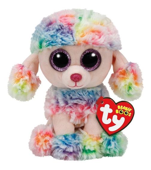Pelucia Ty Beanie Boos Rainbow Poodle P 16cm Dtc 3512