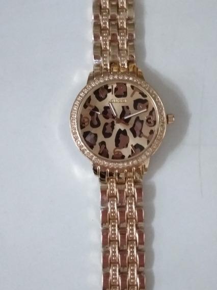 Relógio Feminino Onça Bronze,frete Grátis!!